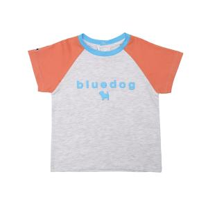 배색 라글란 티셔츠
