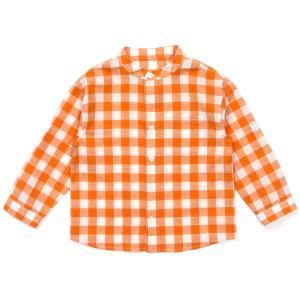 롤업 체크 셔츠