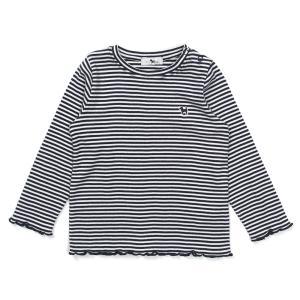 STRIPE 셔링 티셔츠