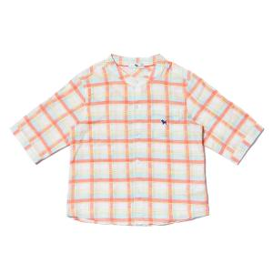 헨리넥 7부 롤업 셔츠