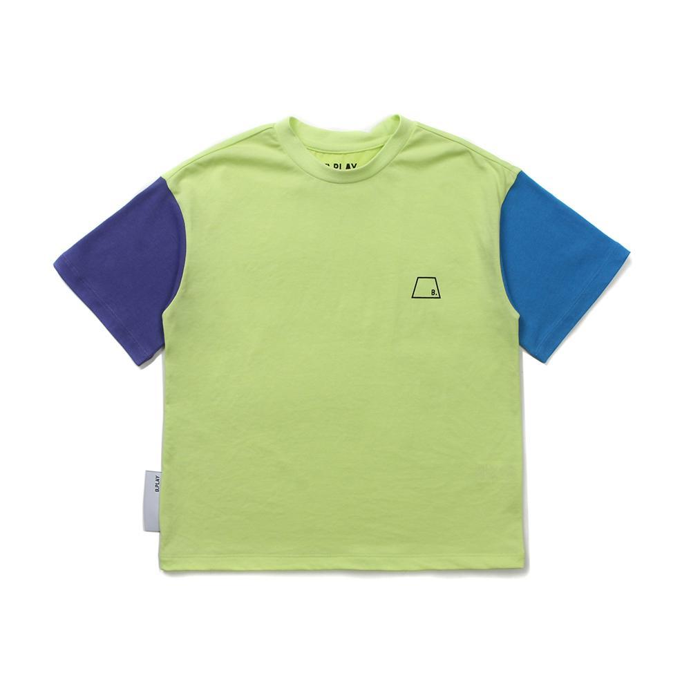 AY컬러블럭티셔츠