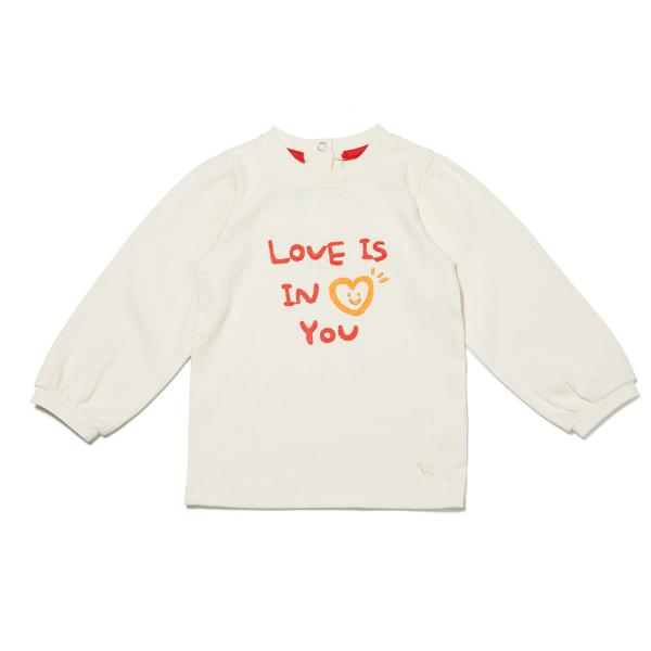 여아 퍼프 골지 티셔츠